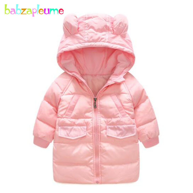 feec8c7c2 2 6Years Winter Baby Girls Boys Coats Infant Snowsuit Hooded Warm ...
