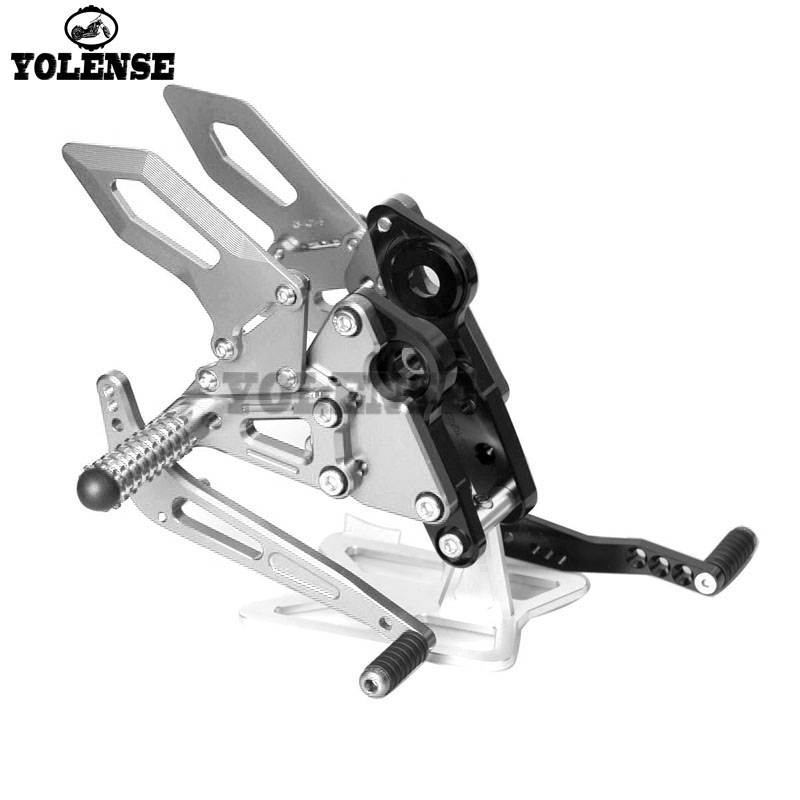 For YAMAHA MT 09 MT09 MT 09 FZ 09 FZ 09 2014 2017 Motorcycle Accessories CNC Footrest Rear Sets Adjustable Rearset Foot Pegs
