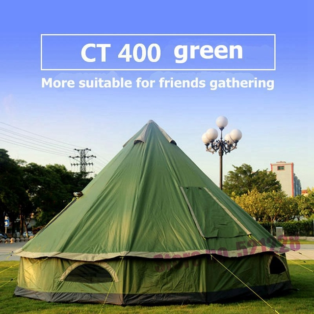 21e509a7513f 2019 Huge 5 6 8 Person Mongolia Glamming Yurt Family Sun Shelter Travel Awning  Hiking Canopy