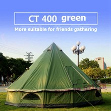 2019 Huge 5 6 8 Person Mongolia Glamming Yurt Family Sun Shelter Travel Awning Hiking Canopy Beach Relief Outdoor Camping Tent(China)