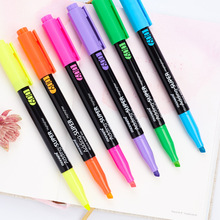 Super pastel color highlighter pen set Quick-drying Water based ink marker drawing liner Stationery Office School supplies F089 pentel bln75 super smooth quick drying unisex pen