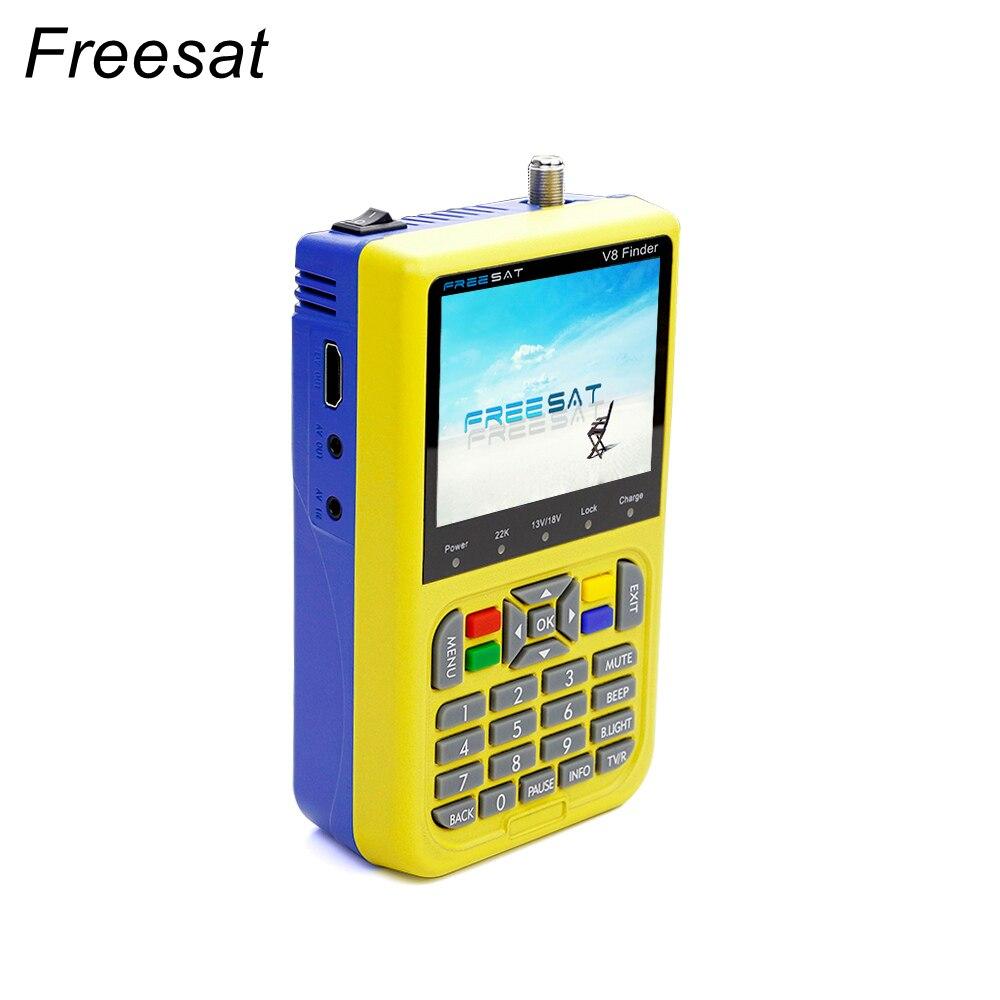 2017 Freesat V8 finder 3.5 inch LCD satFinder DVB-S2 High Definition digital Satellite Finder MPEG-4 Freesat satellite original satlink ws 6908 3 5 lcd dvb s fta data digital satellite signal finder meter