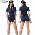 SAYFUT 2016 New Halloween Costumes Ladies Sexy Police Cosplay Costume Clothing Anime Jumpsuit One Set Uniform Fancy Dress Outfit