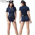 Sayfut 2016 novos trajes de halloween sexy ladies traje cosplay roupas anime macacão um conjunto uniforme da polícia fancy dress outfit