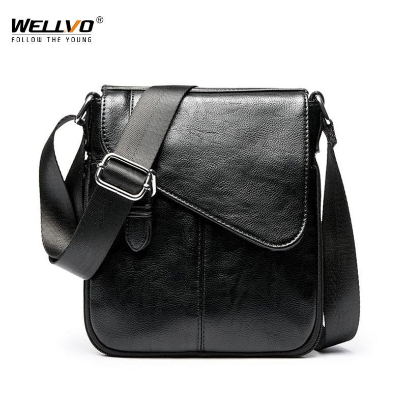 Vintage PU Leather men bags for male flap bag Shoulder Crossbody bags Handbags Messenger small Business men Leather bag XA172WC