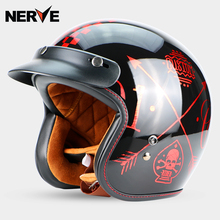 New open face motorcross Vintage helmet ECE cetified Dual D ring closure retro M