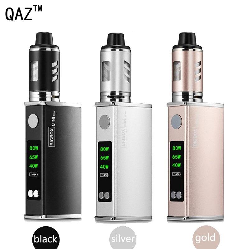 80 W cigarrillo electrónico Vape Mod kit caja atomizador Hookah Vaper Shisha Pen cigarrillo electrónico humo LED fumar cigarrillos mecánicos seguro