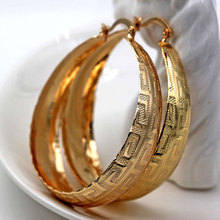 Hip Hop Big Hoop Earrings For Women Pendientes Mujer Moda 2019 Ear Rings Gold Circle Round OBS4301_Gold