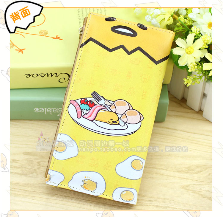 Anime gudetama Cosplay Cartoon male and female students fashion wallet child birthday gift anime tokyo ghoul cosplay male and female students bag korean couples anime leisure pu leather backpack child birthday gift page 1 href