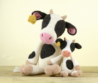 crochet mini cow toy doll rattle