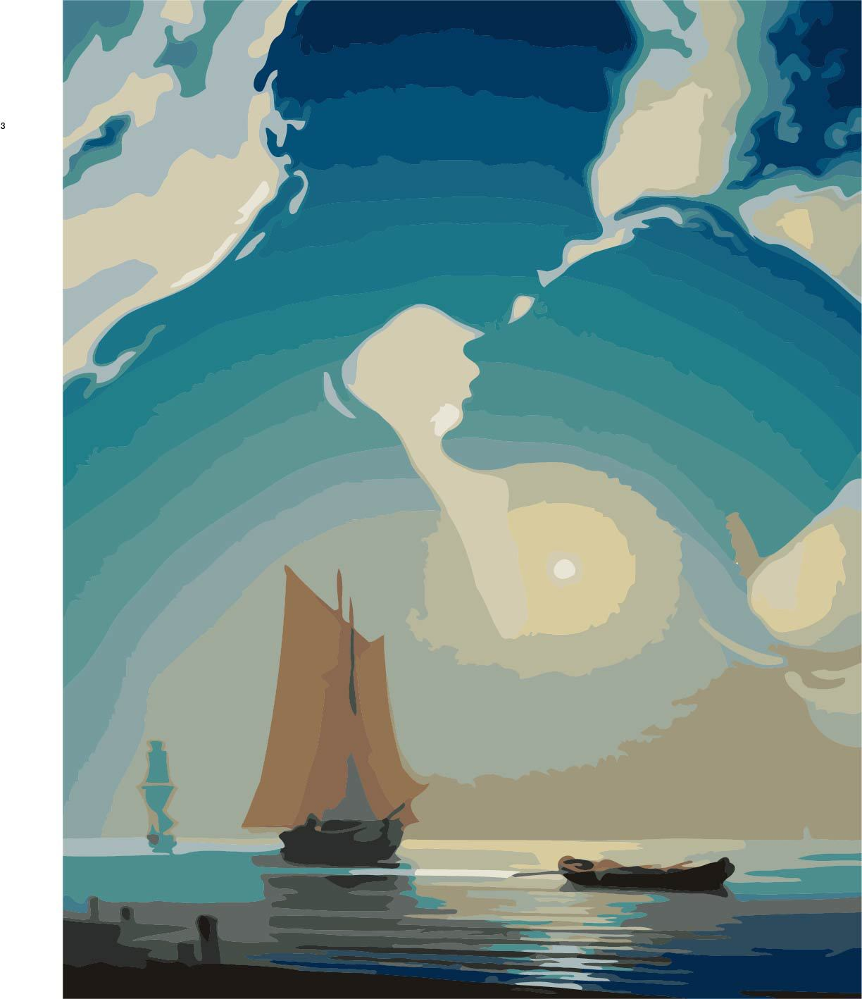 Titanic coloring games online - 40x50cm Unframed Titanic Canvas Pantings Diy Coloring For Number Posters Prints Wall Art For Living Room