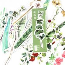 30 шт./компл. цветок филиал Закладка зеленый бумаги ляссе держатель оптовая канцелярские принадлежности материал школа FC675
