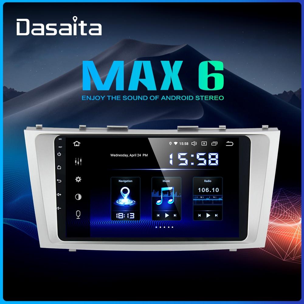 Dasaita 9 voiture Android 9.0 Autoradio pour Toyota Camry 2006 2007 2008 2009 2010 2011 Navigation GPS 1080P vidéo stéréo 64GB ROM