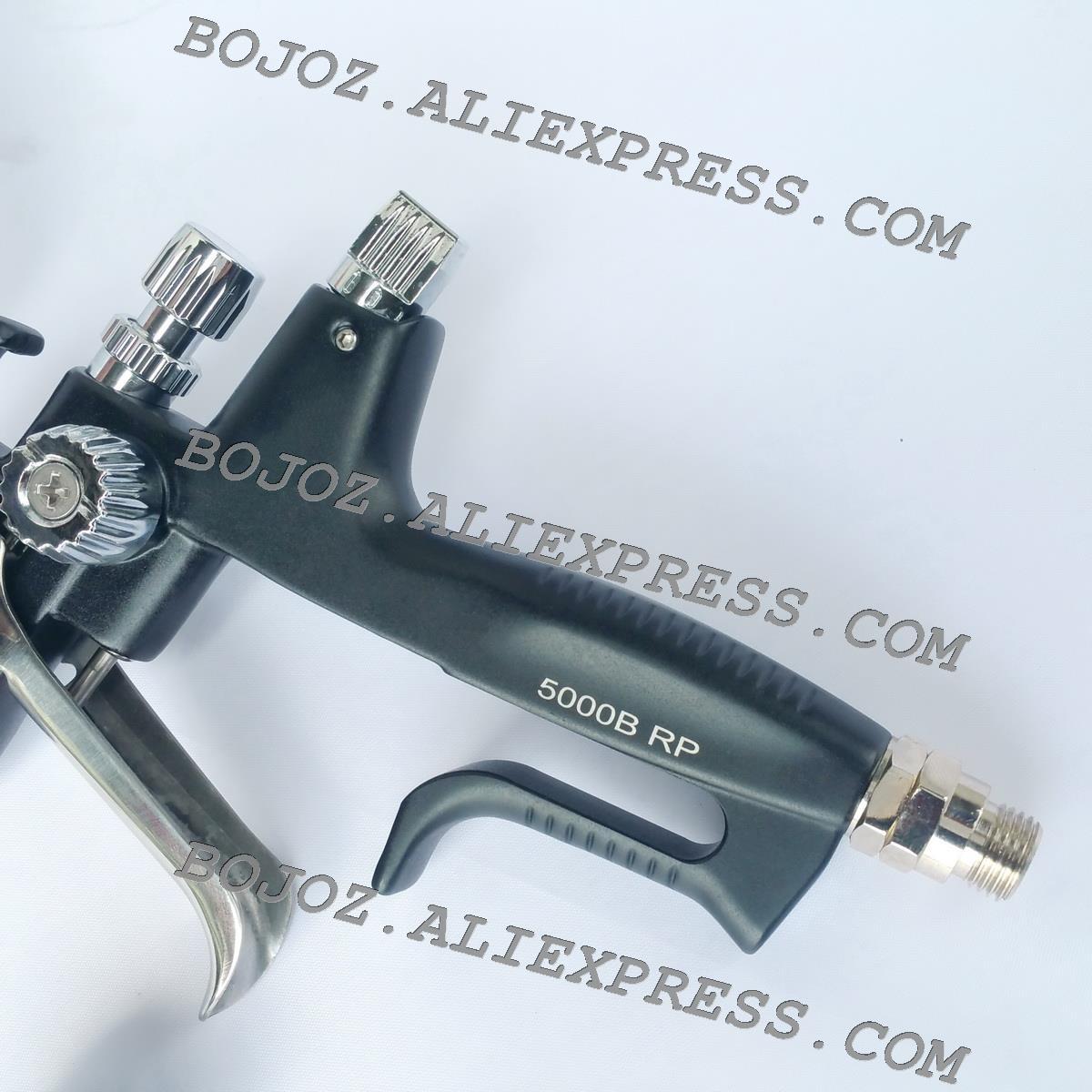 Pistola de pulverizador preta b rp do design de porsche da edição limitada 1.3 bocal com copo de t para o corpo do carro, eficiência elevada pintada do pulverizador