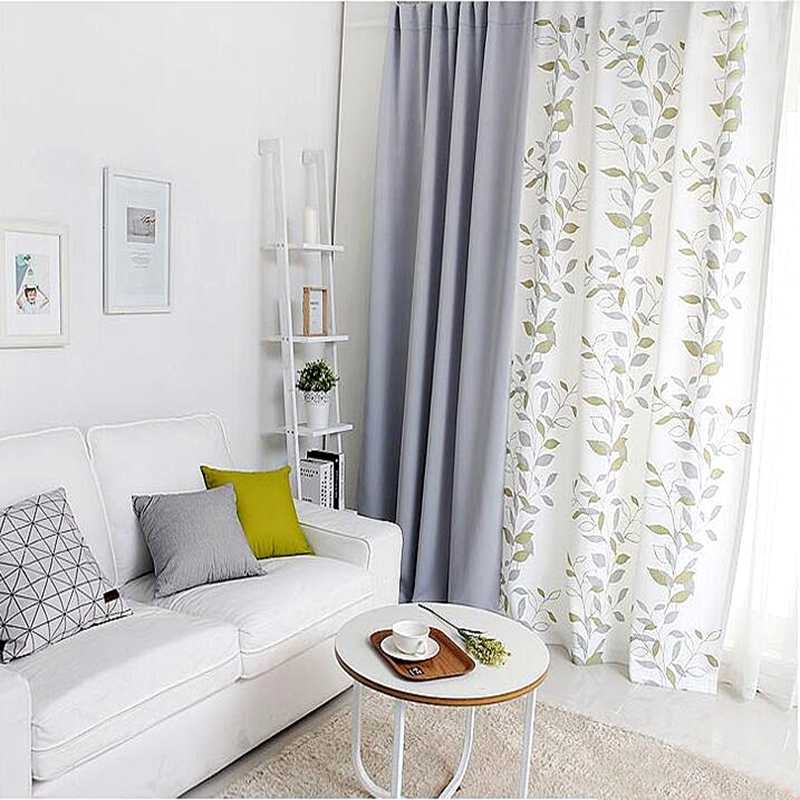 Us 47 43 1x Drapery Panel 145 X 180cm 220cm 240cm 270cm Window Dressing Wave Curtain Nursery Kids Children Room White Grey Leaves In Curtains From