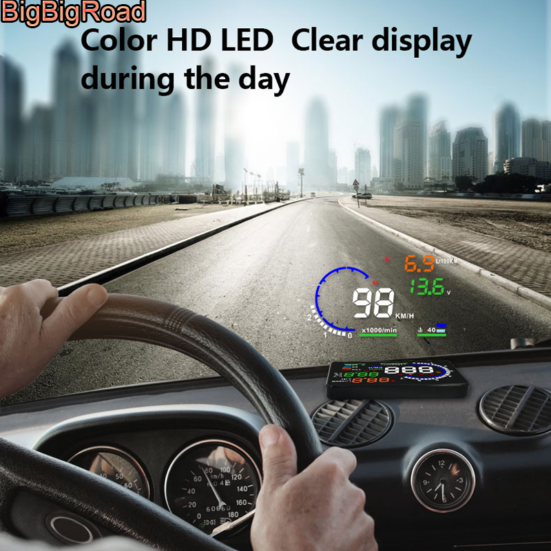 """New A8 5.5/"""" Head Up Display OBD2 Windscreen Dashboard Projector For Lexus Rx 300"""