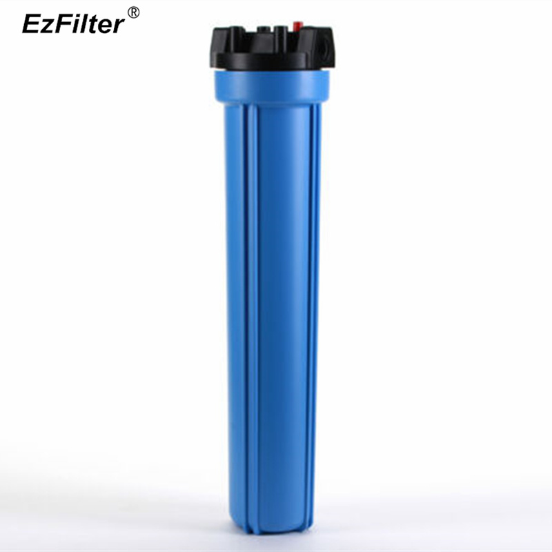 Whole House Blue Water Filter Housing Pressure Relief Type 20 x 2 5 With Port 1