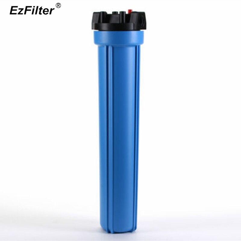 Filtre à eau bleu pour toute la maison Type de décharge de pression 20