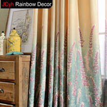 JRD Pastoral Lavender Blackout Curtains Flower Tulle Curtain For Bedroom  Living Room Modern Curtains Drapes Window