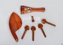 1 satz Violine kinnstütze Saitenhalter Peg violine TEILE Palisander Inlay Rose
