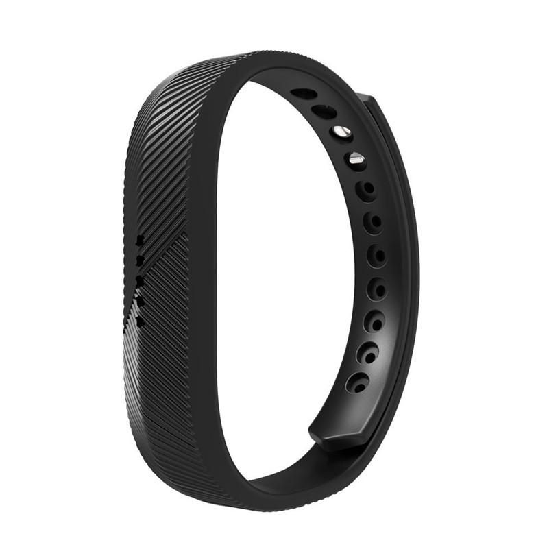 Hot sale Fabulous Soft Silicone Watch band Wrist strap For Fitbit Flex 2 Smart Watch Black Sporting Goods accessories Dec07