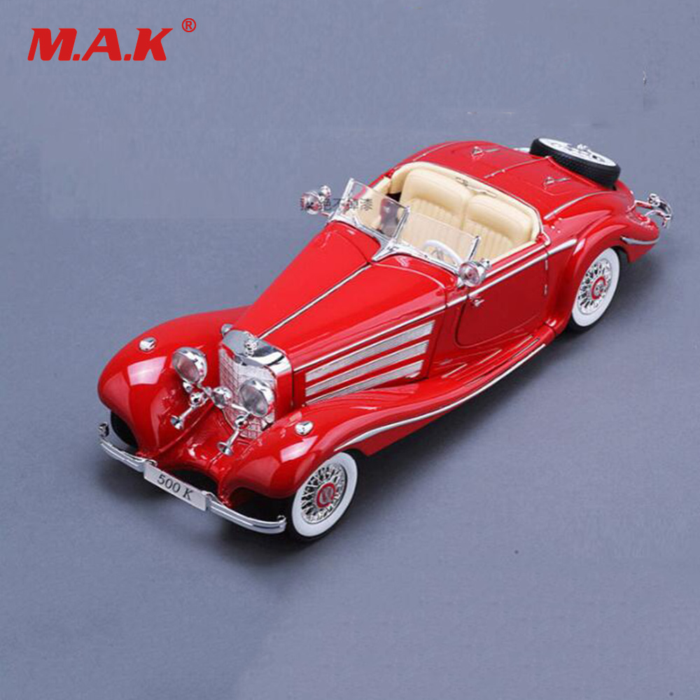 цена на High Quality Childre's Car model Toys 1/18 Scale Alloy Diecast Car 1936 500k Metal Vehicle Collectible Models Toys For Gift