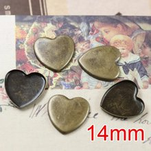 цена на Free shipping!!! Lead Free 1000pcs/lot Inside size 14mm bronze color square  Cameo Base Sett