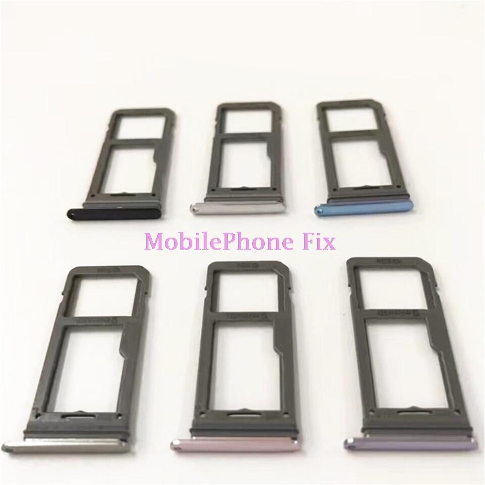 20 PCS Sim Card Tray For Samsung Galaxy S8 G950 S8+ S8 Plus G955 Single Sim Housing Parts Sim Card Tray Slot Holder Parts