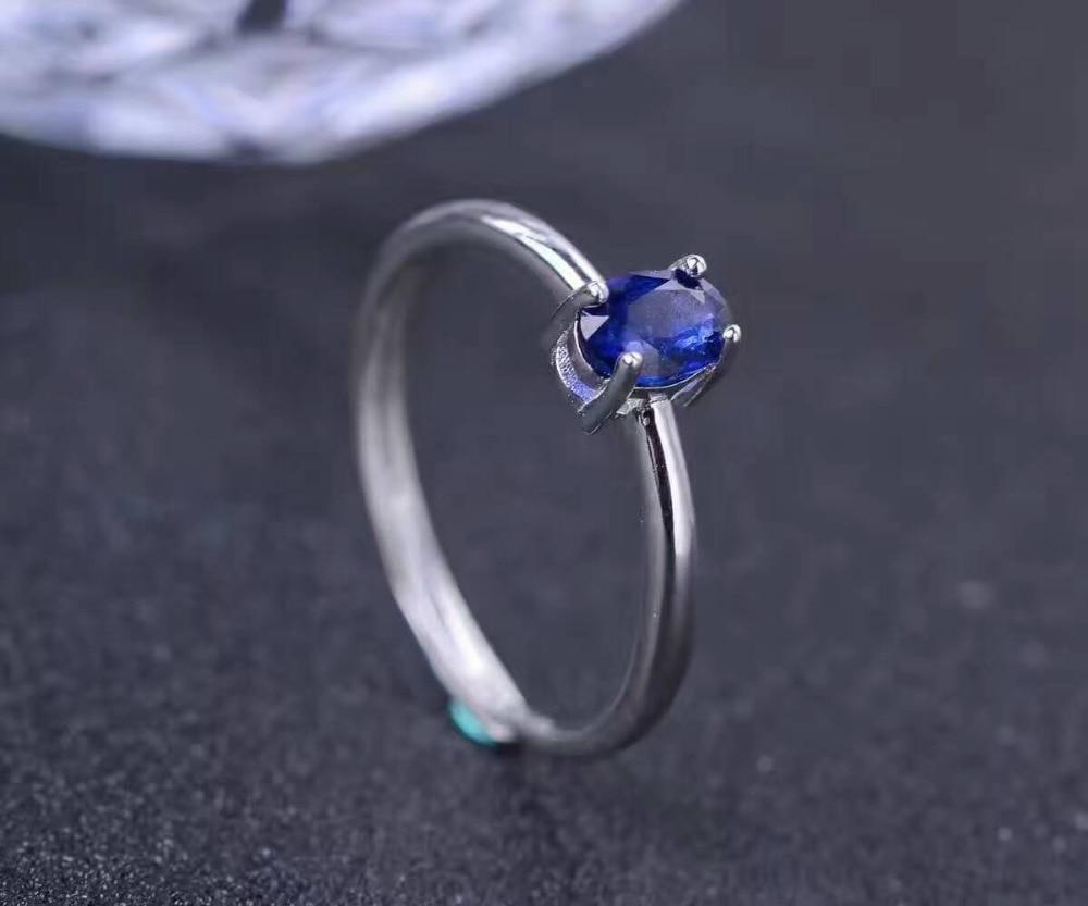 Aliexpress.com : Buy Natural dark blue sapphire gem Ring ...
