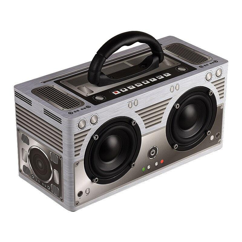 NiUB5 W09 Retro Classic Bluetooth Speaker Wireless Portable High-power subwoofer 20W Speaker 3000mAh TF AUX FM Radio Speaker