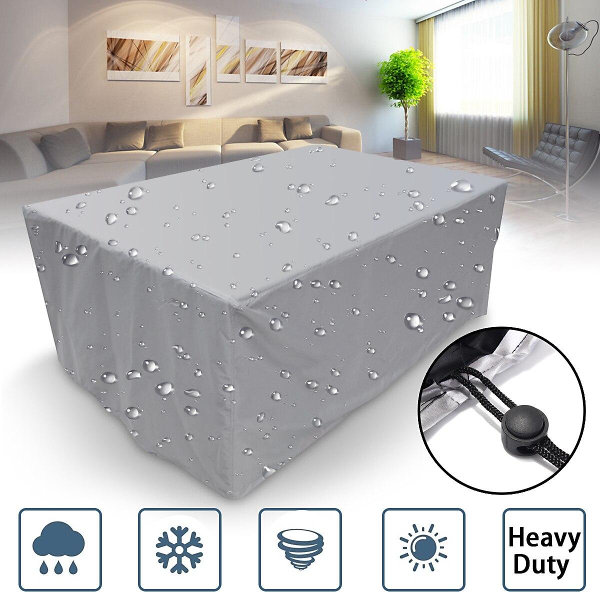 32 tailles imperméable à leau en plein air Patio meubles de jardin couvre pluie neige chaise couvre pour canapé Table chaise anti-poussière couverture