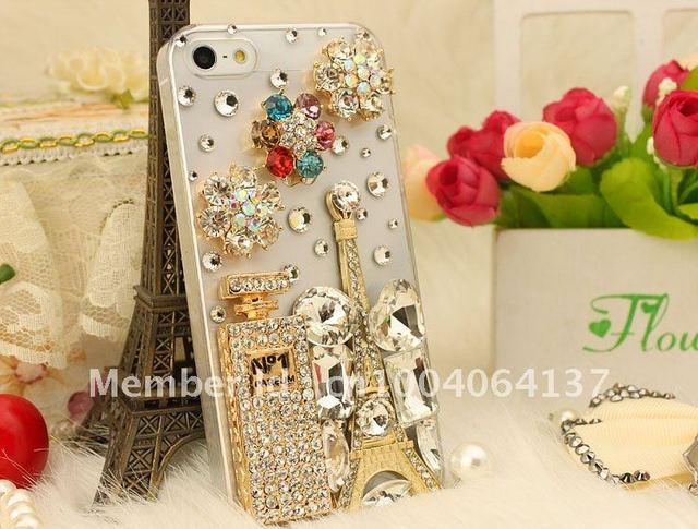 Hot Handmade Luxury Fashion Bling Crystal Diamond 3D rilakkuma Relax bear Case Cover for Apple iPhone 4 4S 5 5g FREE SHIPPING