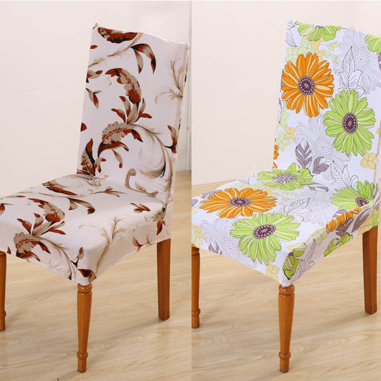 Floral Stretch Slipcovers Short Dining Room Chair Seat Cover Decor Flowers 2017 New