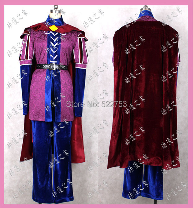 Free shipping Custom-made High quality Sleeping Beauty Costume Prince Phillip Cosplay Costume