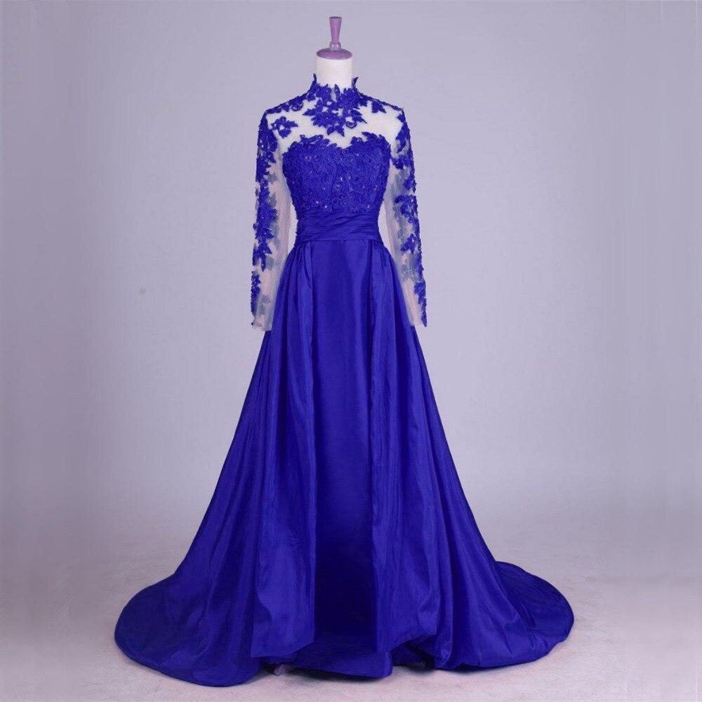 US $11.11 11% OFFLangarm Spitze Abendkleider Party für Hochzeit EINE  Linie Türkischen Dubai Formale Abendkleider Kleider robe de soiree