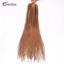 """Chorliss22 """"(56 см) дреды волос химическое вязанная косами одного заканчивается ужаса волосы русые 24strands/1 шт."""