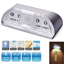 JXSFLYE Keyhole Light, PIR Infrared IR Wireless Door Lock Lamp, Auto Motion Sensor Detector, 4 LED Bulbs