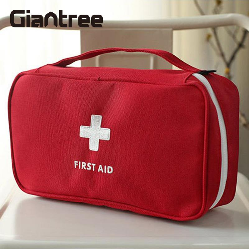 Portable Empty First Aid Kit Pouch Home Office Medical Emergency Travel Case Bag