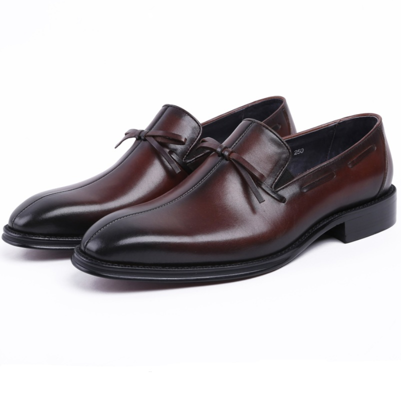 Fashion Black / Brown tan loafers mens wedding shoes genuine leather pointed toe dress shoes mens busines shoes with tassel loisword large size eur45 brown black pointed toe loafers men dress shoes genuine leather business shoes mens wedding shoes page 8