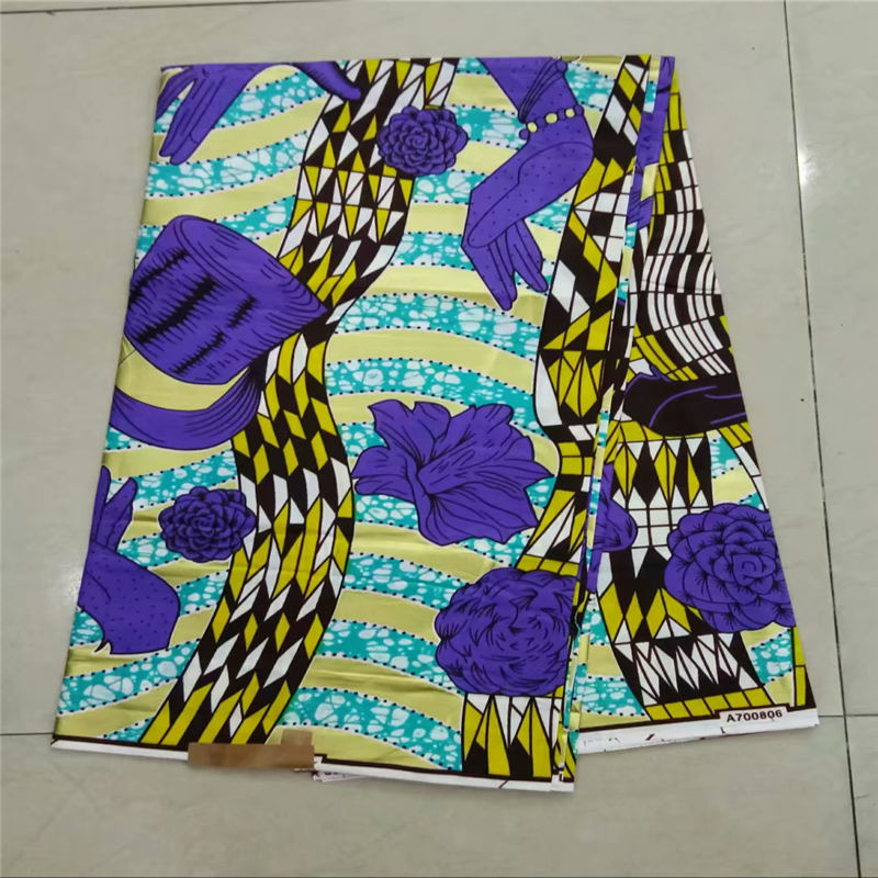 New design mosaic gold design African Wax Prints high quality african Holland wax fabric for clothes