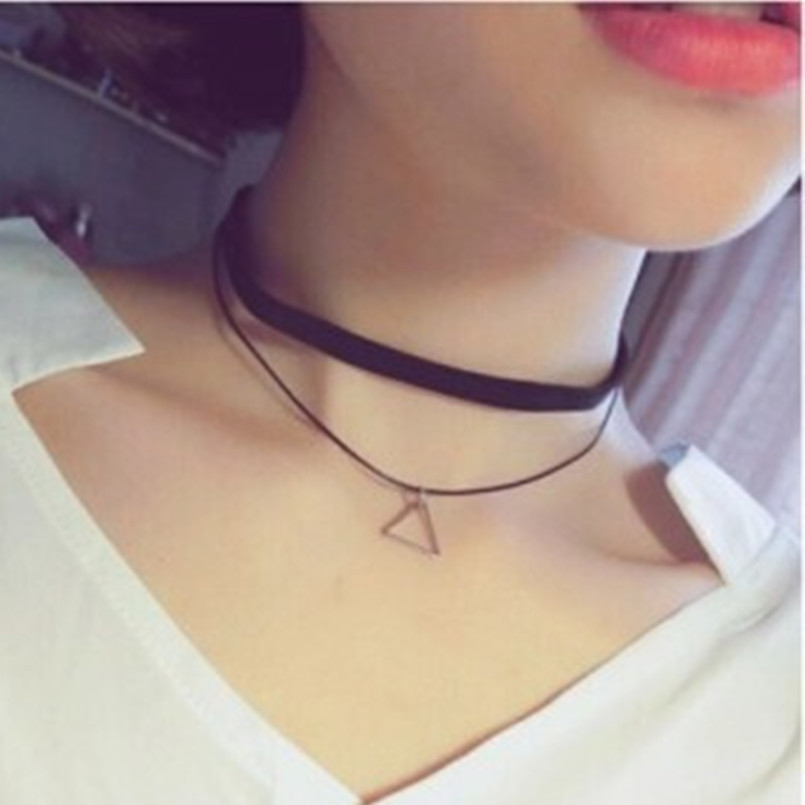 Multi-layer Necklace Women's Triangle Geometric Pendant Necklace Collares China Fashion Accessories Bijoux Colar 2017