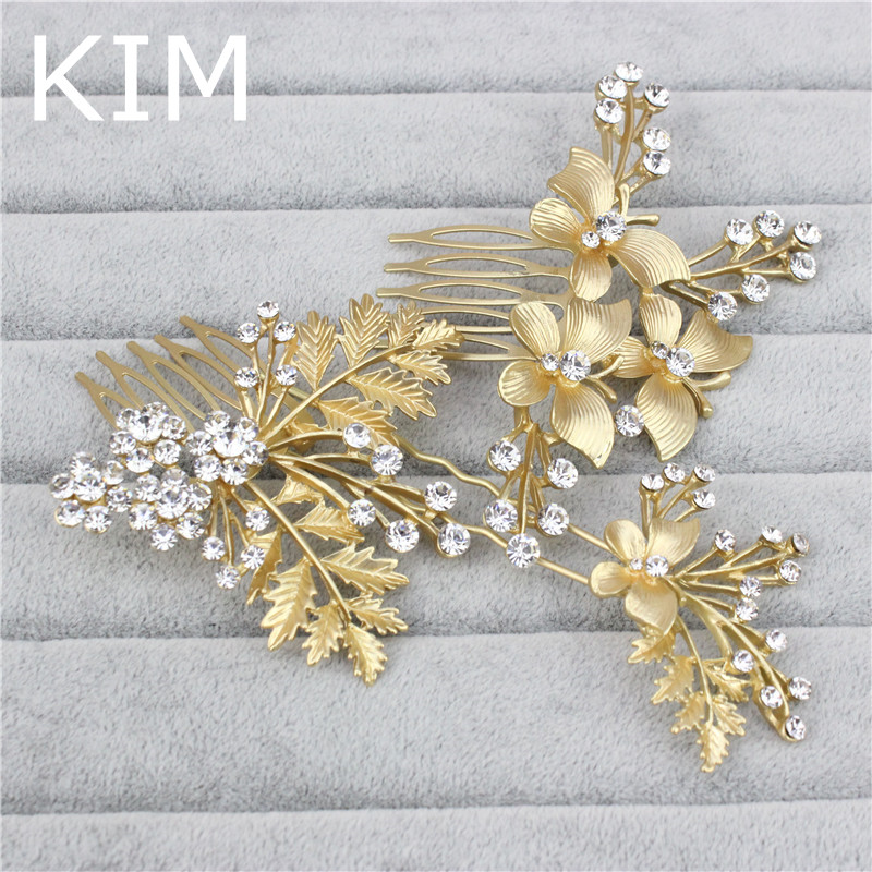 Hair Jewelry 3pcs/set Art Deco Hair Comb Crystal Wedding Comb For Bride Hair Accessories Gold Hair Combs Wedding Jewelry Bridal Accessory Jewelry & Accessories