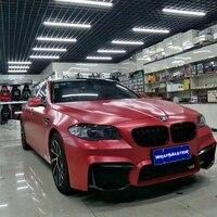 Premium Qualität Electro-optic Metallic Film car wrapping auto body wrap mit Luftblase 1 52 x18m/rolle Rot