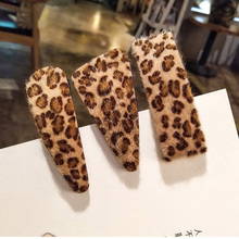 Candygirl Colorful Leopard Barrettes Women Girls Hairpin bb Hair Clip Tiara Headwear Bangs Adult Side Accessories