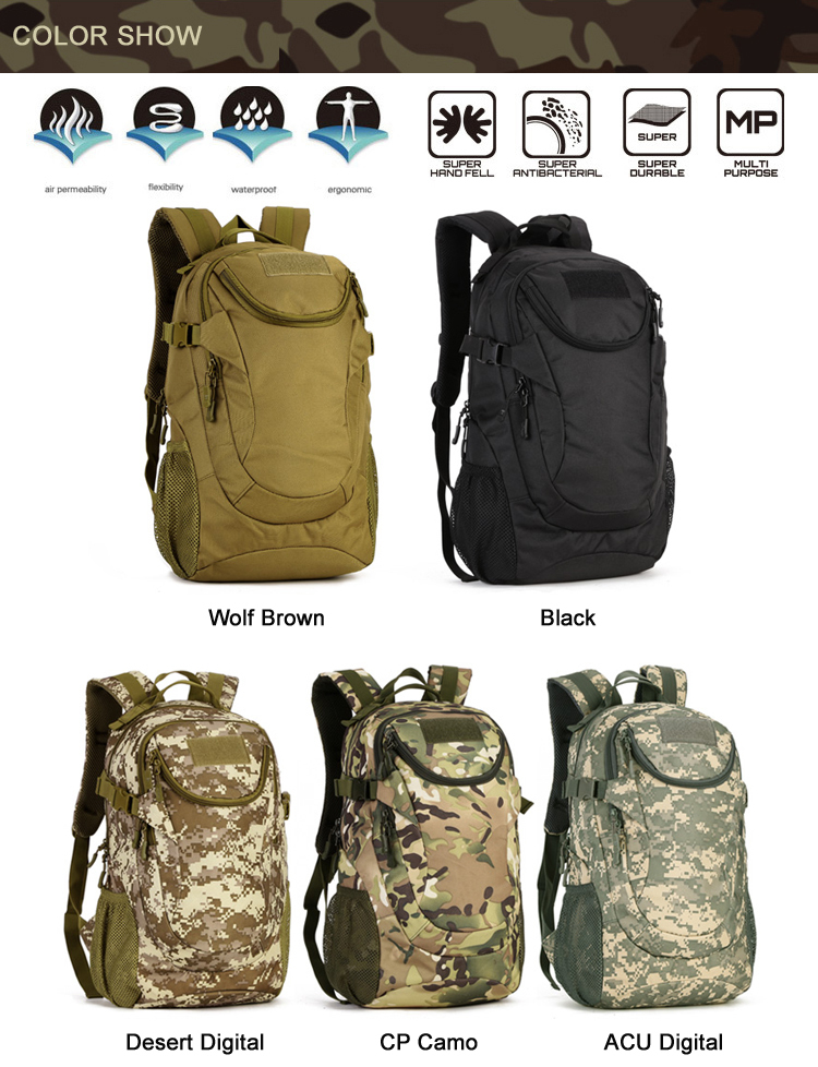 Protector Plus 2018 25L Tactical Army Camouflage Soldier Backpack ... ee23c363ec3b3