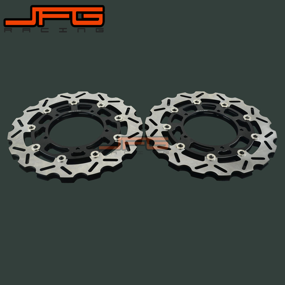 Motorcycle Front Floating Brake Disc Rotor For YAMAHA FZ1 FZ-1 FZ1S FZ1-S FAZER 2006-2013 YZFR1 YZF R1 ZYFR1 2004 2005 2006 motorcycle front and rear brake pads for yamaha fz1 fazer 3c3 half fairing non abs 2006 2015 sintered brake disc pad