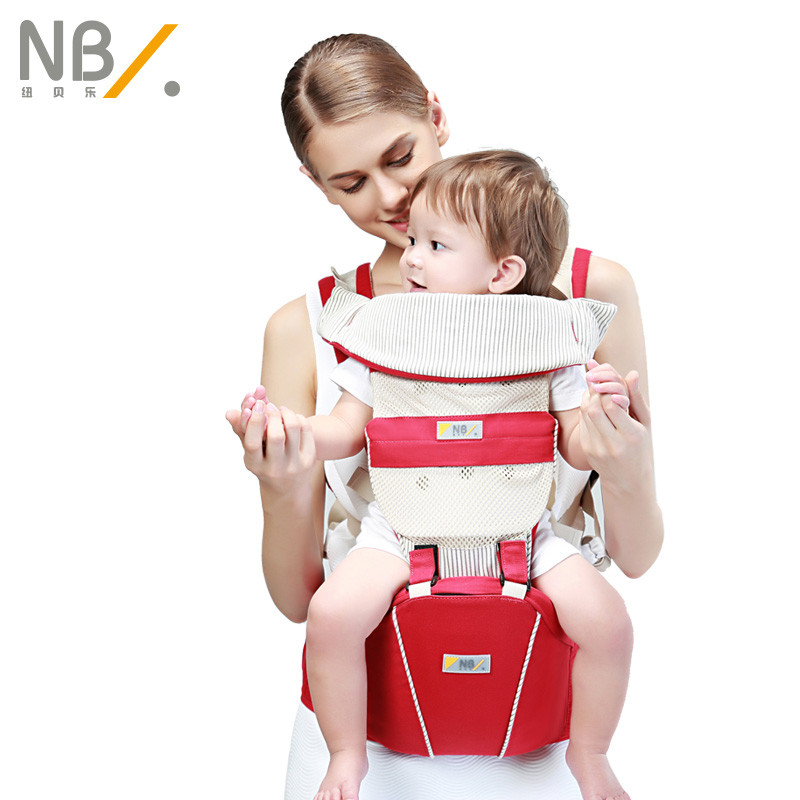 NewBealer Organic Cotton Conveinent Double Backplate Support Multifunctional Breathable Lightweight Baby Child Waist Stool