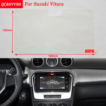 Car Sticker 9 Inch GPS Navigation Screen Steel Protective Film For Suzuki Vitara 2016-2017 Control of LCD Screen Car Styling image