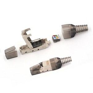 Image 2 - 2 個 CAT6A RJ45 コネクタドロップシッピング卸売金属スプリッタ 10 5gbps シールドフィールド接続モジュラーイーサネットネットワーク