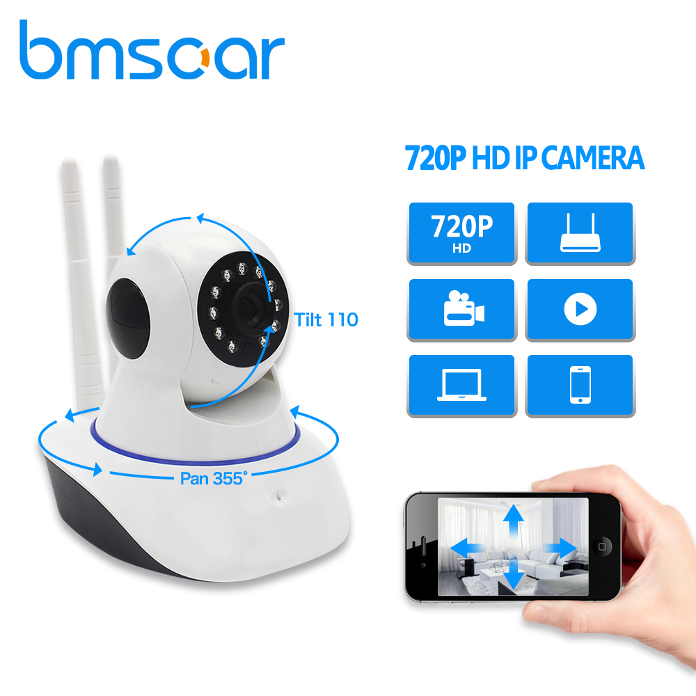 BMSOAR IP Camera Wireless WIFI 720P HD IR Night Vision Network CCTV Camera Home Security Baby Monitor YOOSEE цены онлайн